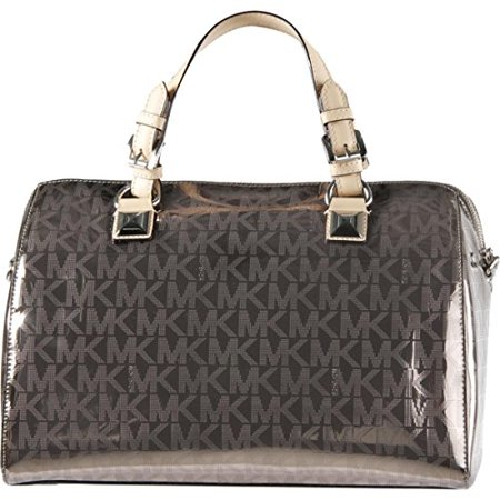 MICHAEL Michael Kors Womens Grayson Convertible Satchel Handbag Metallic Large Convertible Satchel Handbags