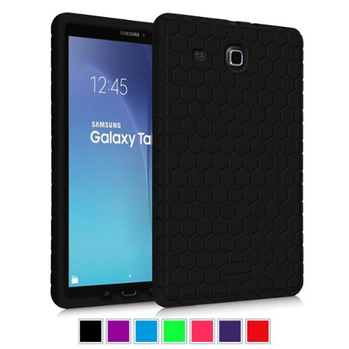 Fintie Samsung Galaxy Tab E 9.6 / Tab E Nook 9.6 Tablet Silicone Case Lightweight Anti Slip Shockproof Cover, Black
