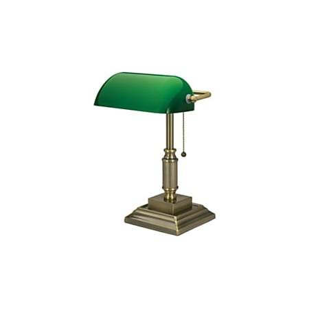 Realspace™ Traditional Banker's Lamp, 14-3/4
