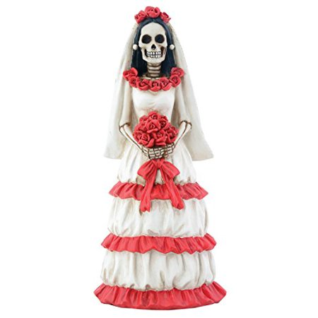 Day of The Dead Dod Red and White Bride Figurine - Day Of Dead Bride