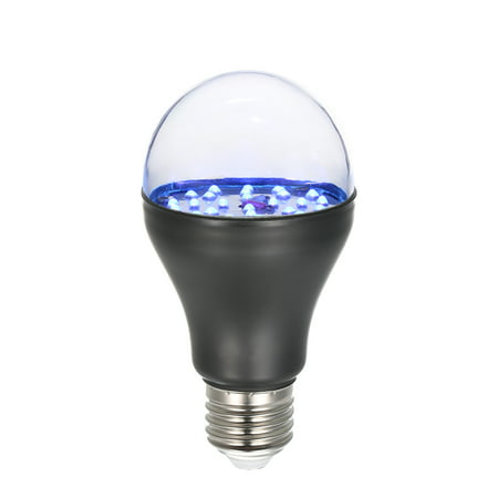 7W 25 LED 365nm UV Light Bulb AC100V-240V A19 Ultraviolet Blacklight with E27 Lamp Base for Sterilization Attracting Insects Monetary Validation Identify Fluorescent Dyes - image 7 de 7