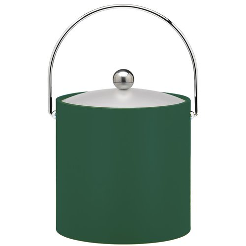 3 Qt. Ice Bucket in Tropic Green by Kraftware