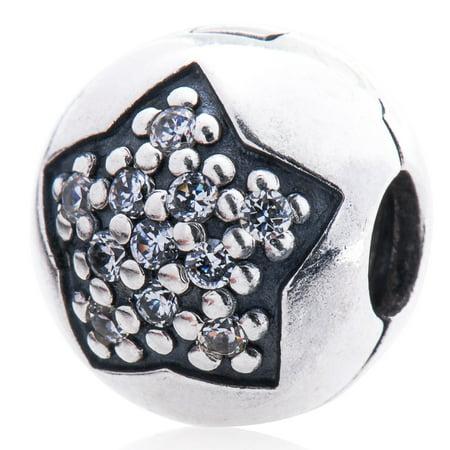 Pandora Silver Pave Star Clip Charm - 791056CZ