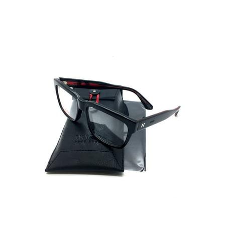 Hugo Boss New Authentic Black Italy fashion demo lenses Men Eyeglasses 0129 7YN RED 55 16