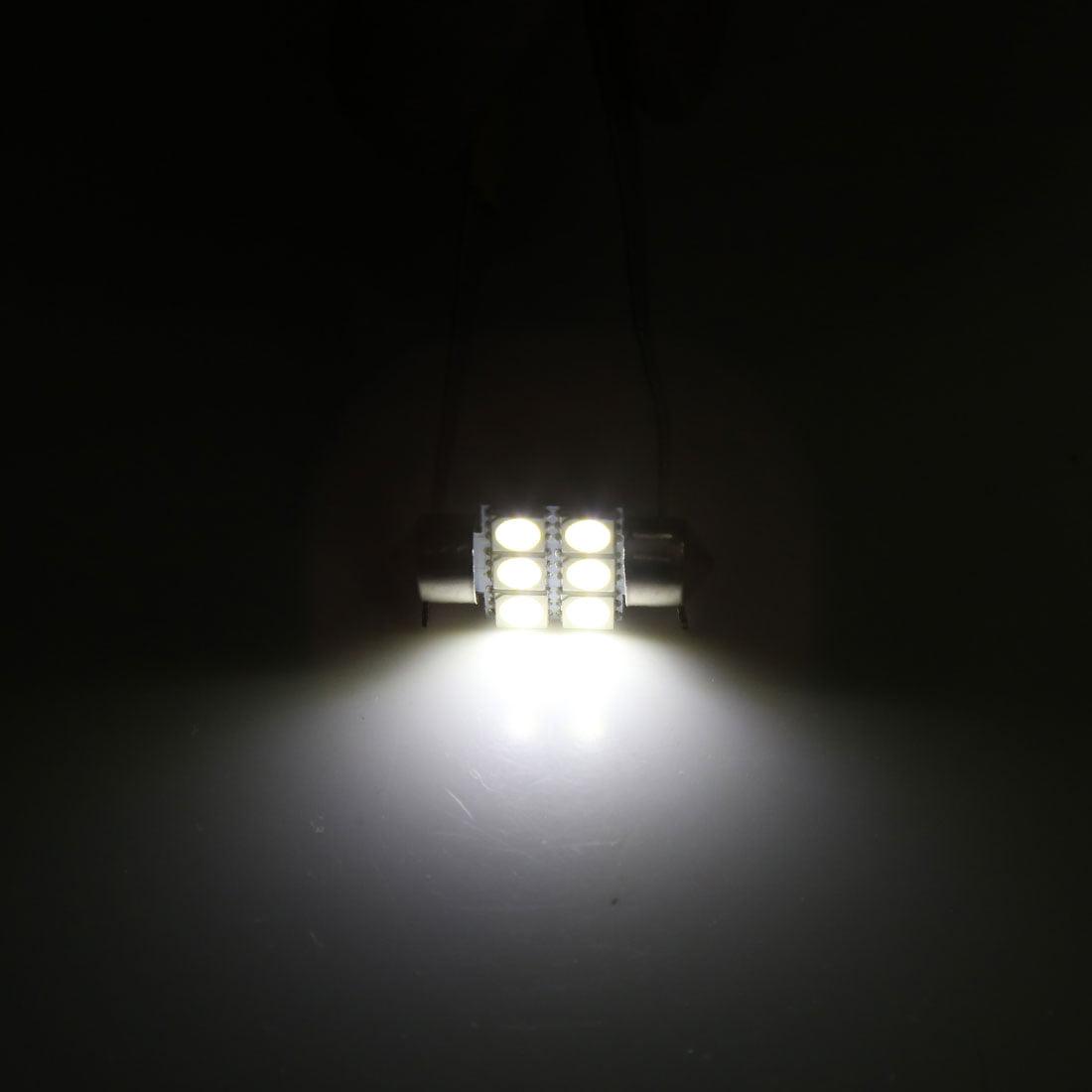 12pcs 31mm 6 LED 5050 SMD Festoon Dome Light Car Interior Bulb White 3022 DE3175 - image 1 of 3
