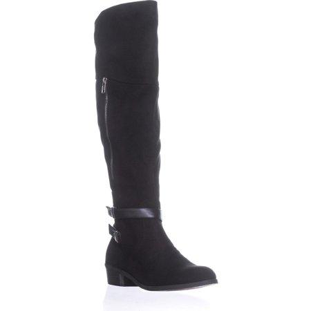 Custom Shifter Boots (Womens Indigo Rd. Custom Turlock Knee High Boots, Black Multi, 10 US)