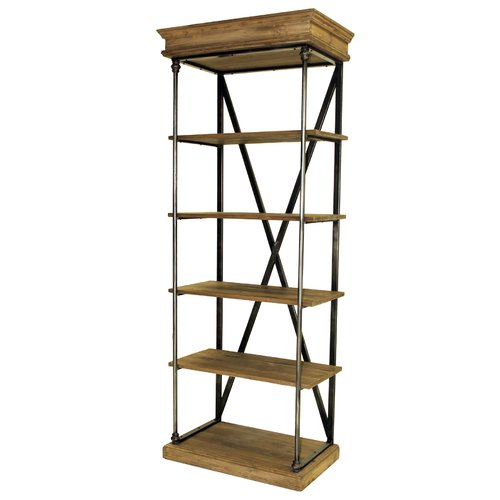 Reual James Pinehurst 78'' Etagere Bookcase by
