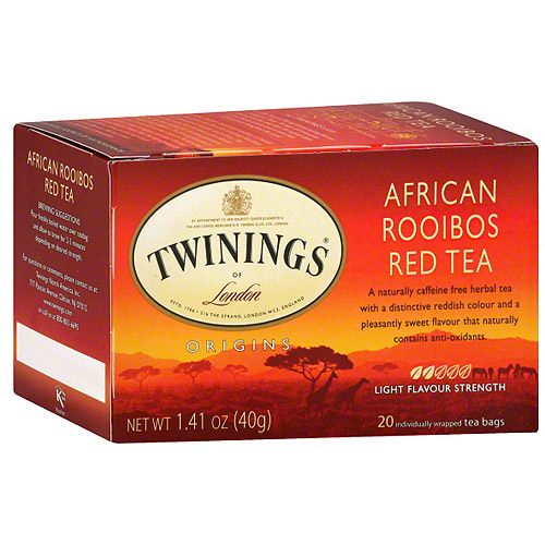Twinings Of London African Rooibos Red Herbal Tea, 20ct (Pack of 6)
