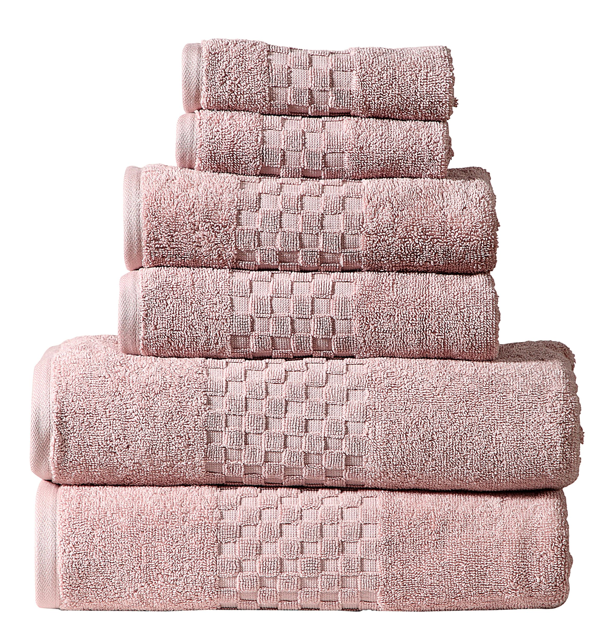 Luxury 100% Cotton 6-Piece Towel Set, 650 GSM Hotel Collection, Super Soft and Highly Absorbent (Multicolor, 6 Pack Set)