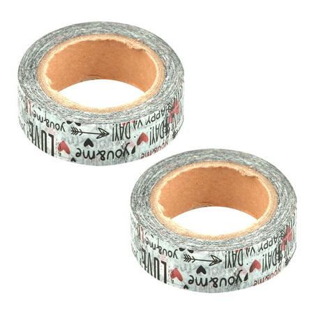 Wedding Room Washi Paper Letter Pattern DIY Decoration Sticky Tape Sticker 2 Pcs - image 4 of 4