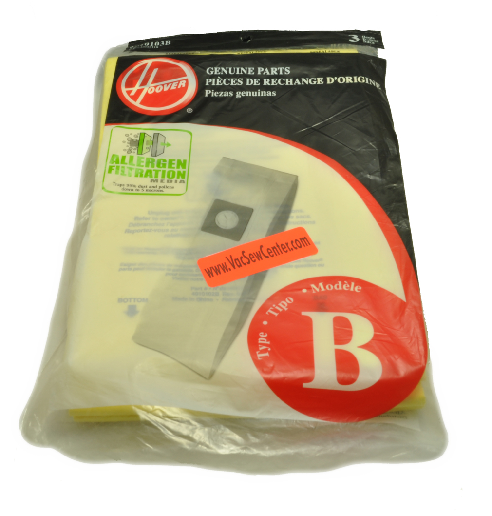 Hoover Upright Vacuum Cleaner Type B Bags