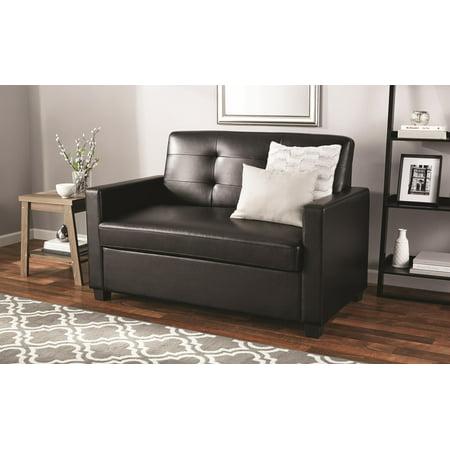 mainstays sleeper loveseat with memory foam mattress multiple colors. Black Bedroom Furniture Sets. Home Design Ideas