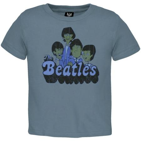 The Beatles - Blue Cartoon Infant T-Shirt - Beatles Outfit
