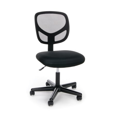 OFM Essentials Collection Mesh Back Office Chair, Armless, in Black