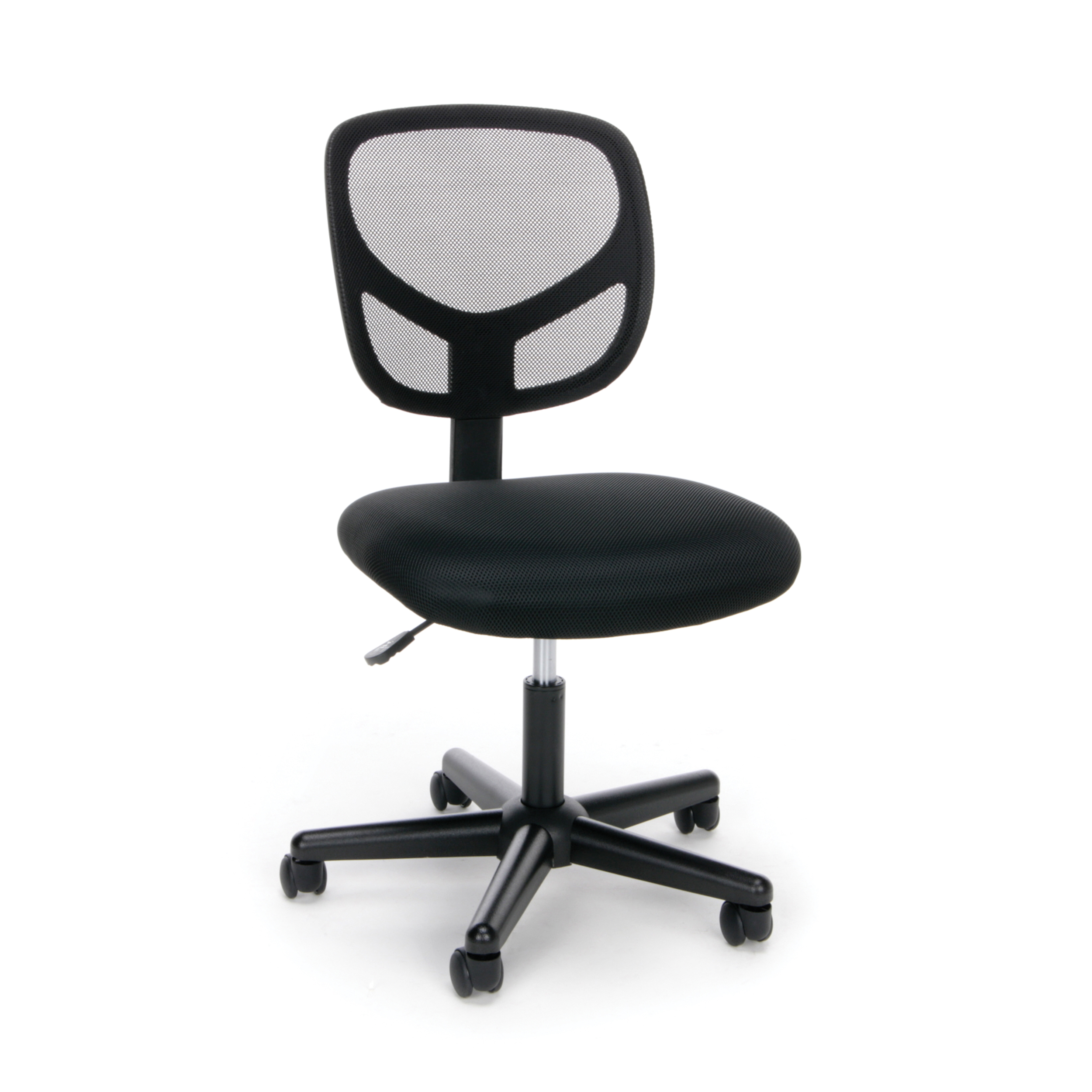 Essentials By OFM ESS 3000 Swivel Mesh Back Armless Task Chair, Black
