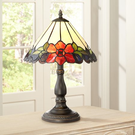 Robert Louis Tiffany Traditional Accent Table Lamp 17 1/2
