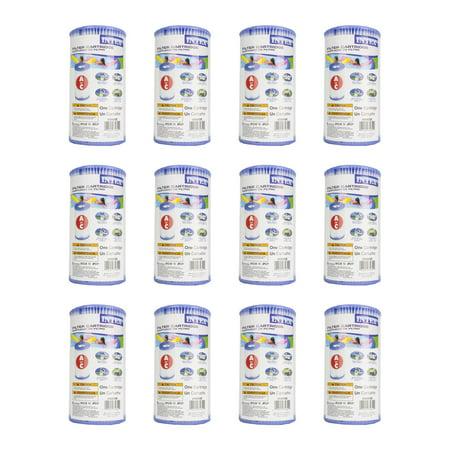 3000 Replacement Filter Cartridge - Intex Pool Easy Set Type A Replacement Filter Pump Cartridge (12 Pack) | 29000E