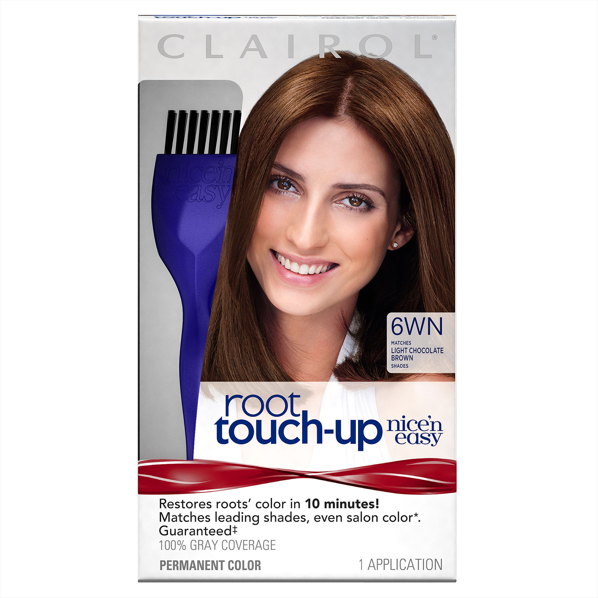 Clairol Nicen Easy Root Touch Up 6wn Light Chocolate Brown
