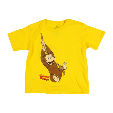 Curious George Guy With Yellow Hat (Curious George Toddler Boys' Short Sleeve Tee Shirt, Yellow Swing,)