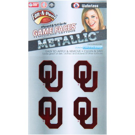 Oklahoma Sooners Game Faces Metallic Tattoo