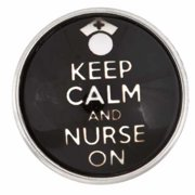 Charm-Nugz Snap On-Keep Calm And Nurse On-Glass