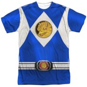 Power Rangers - Blue Ranger Emblem - Short Sleeve Shirt - Large