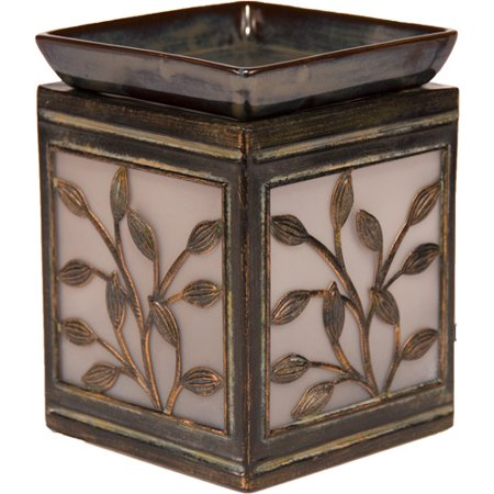 Better Homes And Gardens Serene Leaves Wax Warmer Brown