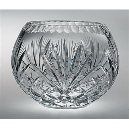 Majestic Gifts Hand Cut Crystal Bowl, 6-Inch, Rose ()