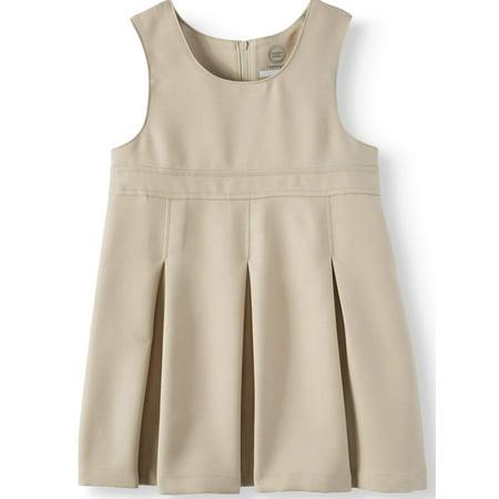 Wonder Nation Toddler Girls School Uniform Empire Waist Jumper - Toddler Cheerleading Uniforms