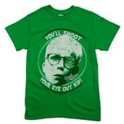 A Christmas Story Mens Green Holiday T-Shirt You'll Shoot Your Eye Out Shirt