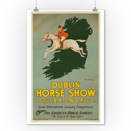 Dublin Horse Show Vintage Poster  Artist  Whitmore  Ireland C  1954  9X12 Art Print  Wall Decor Travel Poster