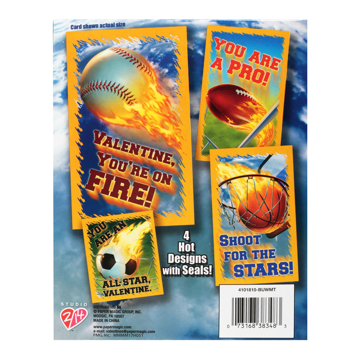 32ct hot sports valentine cards walmart m4hsunfo