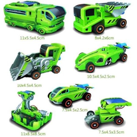 Marketworldcup - DIY Assemble 7 In 1 Educational Solar Robot Drilling Machine Dinosaur Insect Kit
