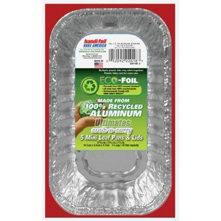 Handi-foil Bake America Ultimates Cook-n-carry Loaf Pans & Lids (Ez Foil Mini Loaf Pans With Lids)