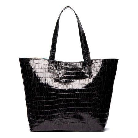 Viva Bags  Croco Embossed Italian Leather Tote Bag ()