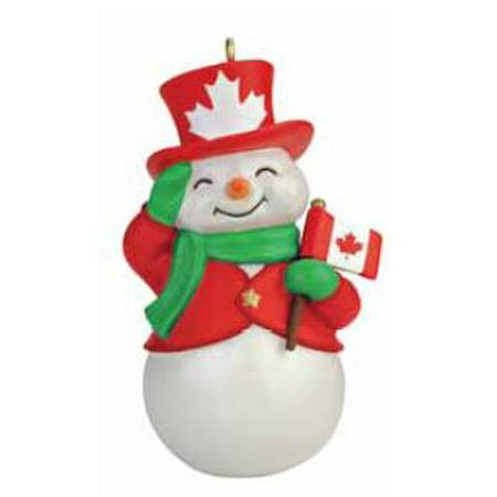 Hallmark Ornament 2015-16 Canada Patriotic Snowman - CANADIAN (Canadian Ornaments)