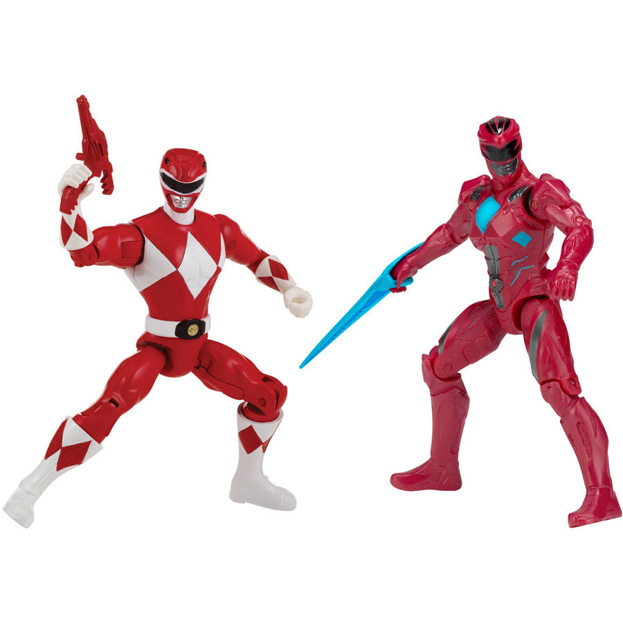 Power Rangers - Then and Now Red Ranger Figure Set, Red