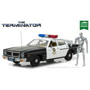 1:18 Artisan Collection - The Terminator (1984) - 1977 Dodge Monaco Metropolitan Police with T-800 Endoskeleton Figure