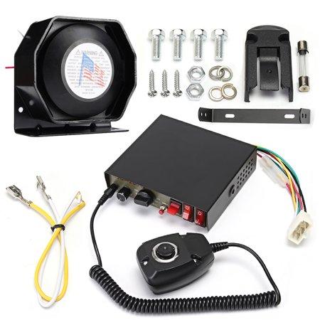 - 400W 8 Sound Loud Car Warning Alarm Police Fire Siren Horn PA Speaker MIC System