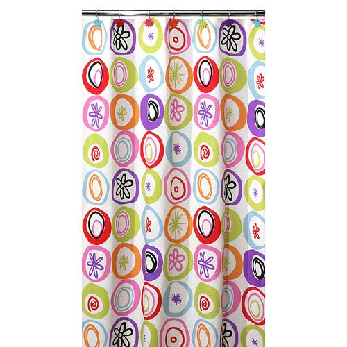 All That Jazz 13 Piece Shower Curtain With Bonus Rings Set, Multi Colors