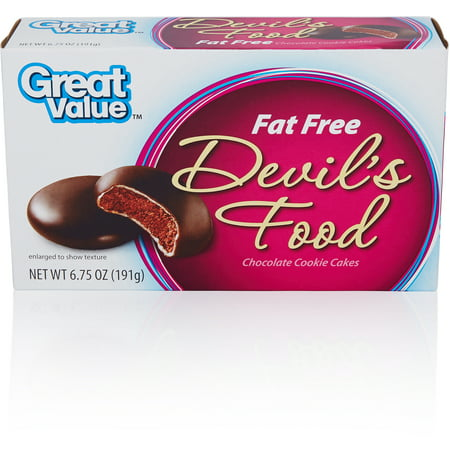Great Value Fat Free Devils Food Chocolate Cookie Cakes 675 Oz