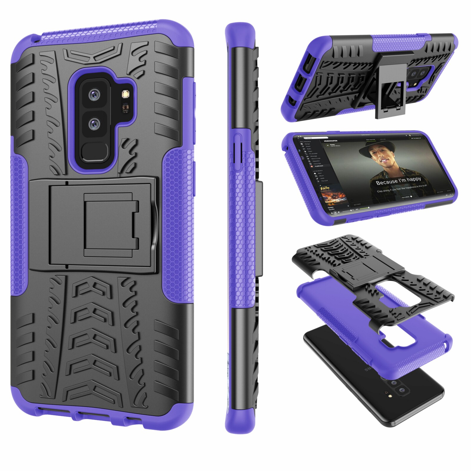 """Galaxy S9 Plus Case, Samsung S9 Plus Case with Stand, Galaxy S9+ Cover, Tekcoo [Hoplite] Shock Absorbing Defender Heavy Full Body Kickstand Carrying Armor Case Cover For Samsung Galaxy S9 Plus 6.2"""""""