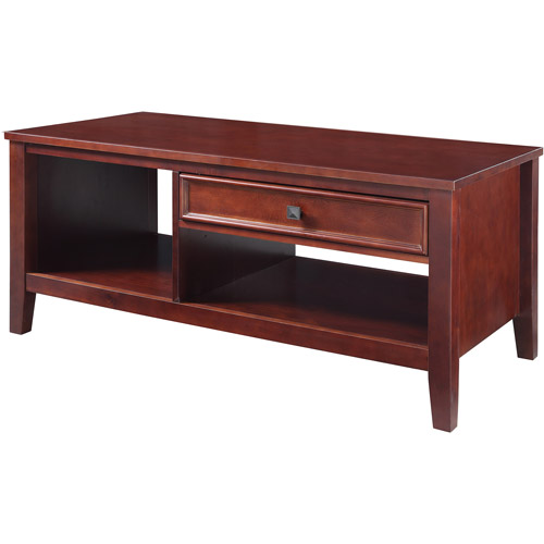 Linon Home Decor Wander Coffee Table, Cherry