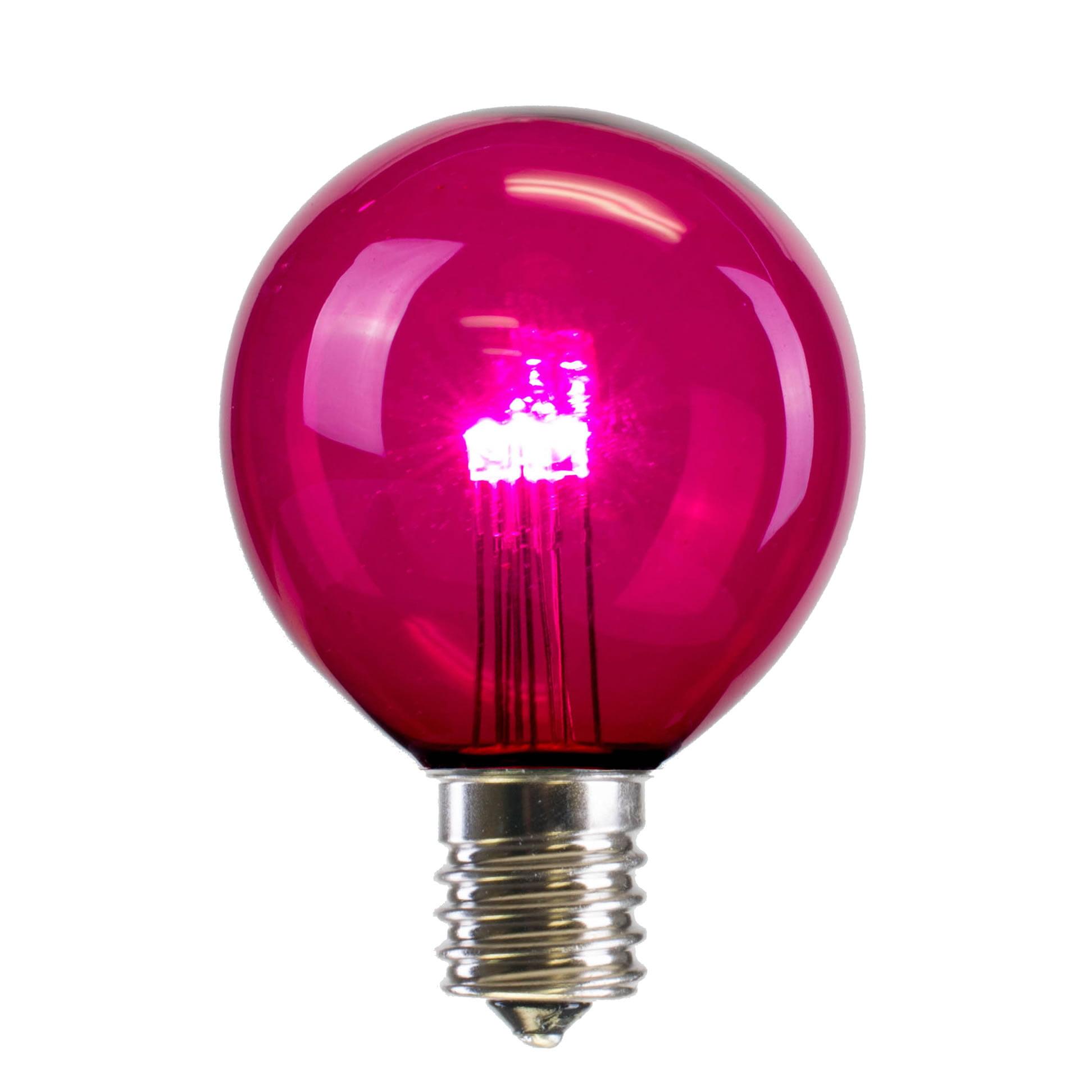 Vickerman G50 LED Pink Transparent Replacement Bulb E17 Nickel Base