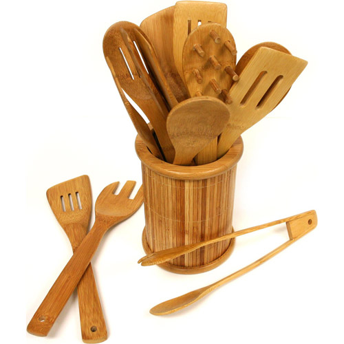 TruBamboo Circa Cooking Utensils Set, 14pc