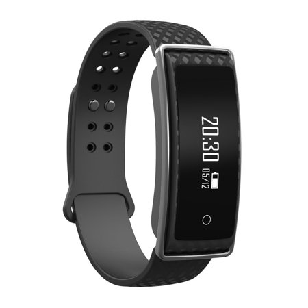 Tirux Bluetooth Smart Watch Bracelet Wristband Blood Pressure Heart Rate Monitor Sport Fitness Activity Tracker   Black