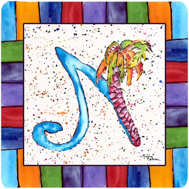 Carolines Treasures 8437-NFC Beach And Seafood Foam Coasters - Set 4 - image 1 of 1