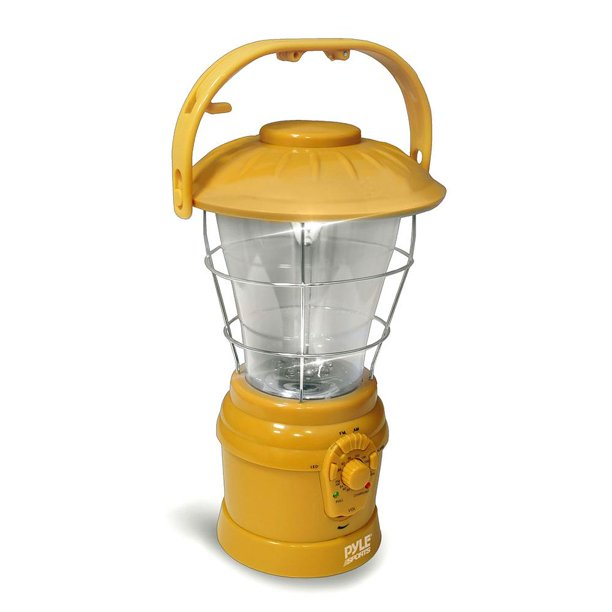 Multi Function Hand Crank Torch Lantern with AM/FM Radio, Recharging Crank (Yellow Color)