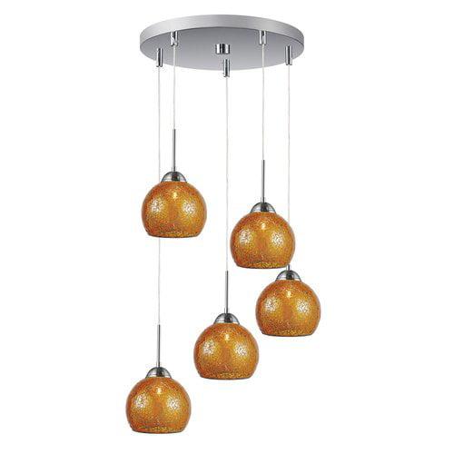 Woodbridge Lighting 5-Light Mini Pendant Cluster