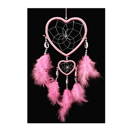 Handmade Heart-shaped Dream Catcher car or wall Decor hanging (With a Betterdecor Gift Bag)